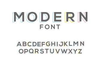 simple modern custom font