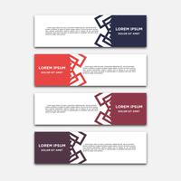 Vector abstract geometric design banner web template