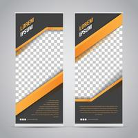 Simple Three Color Abstract Banner