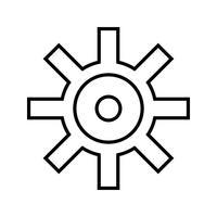 Einstellungen Linie schwarzes Symbol