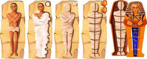Mummy skapande tecknad vektor illustration