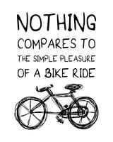 Inspirational quote about riding bike vector