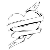 vetor de coração