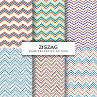 Zig Zag Seamless Vector Patterns Collection