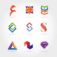 Abstract Colorful Logo Set Sign Symbol Icon
