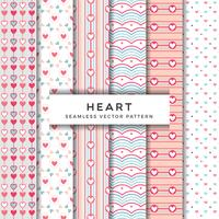Heart Seamless Vector Pattern Collection