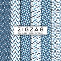 Navy Blue Zigzag Seamless Vector Patterns