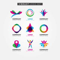 Colorful Vibrant Logo Set Sign Symbol Icon