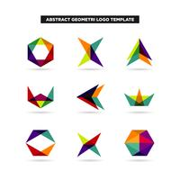 Abstrakte Geometrie Logo Design Collection