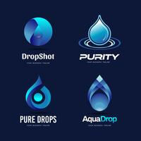 Drops Logo Design vector