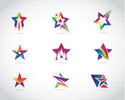 Colorful Star Logo Design Set