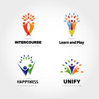 Creative People Partner Logo Design Set