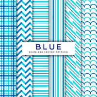 Blue Line Seamless Vector Patterns
