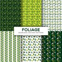 Foliage Leaf Seamless Vector Pattern Collection