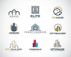 Coleção de conjunto de Design de logotipo de propriedades