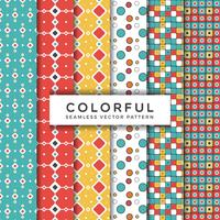 Colorful Seamless Vector Patterns