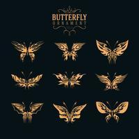 set di ornamento di farfalla