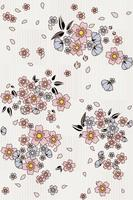 Floral seamless pattern cute flowers group background
