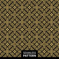 Luxury ornamental seamless pattern in golden color