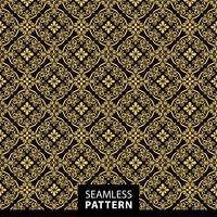 Patrón sin costuras ornamental de lujo en color dorado.
