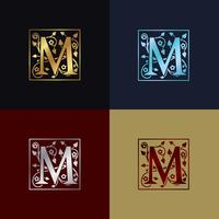 Logotipo decorativo da letra M