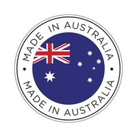 Made in Australia flag icon. vector