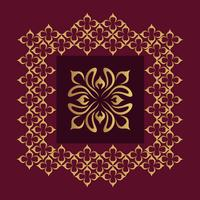 Sfondo di design ornamentale di lusso in colore dorato