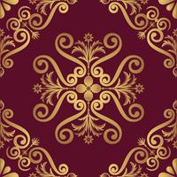 Ornamental pattern design in golden color