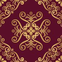 Disegno del modello ornamentale in colore dorato