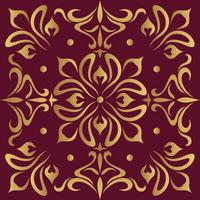 Luxury ornamental design background in golden color