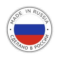 realizzato in icona bandiera russia.
