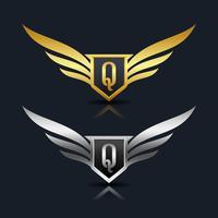Letra Q emblema Logo