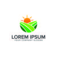 Modèle de concept de conception de logo environnement et vert aménagement paysager