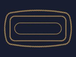 marco de cuerda. ilustración vectorial