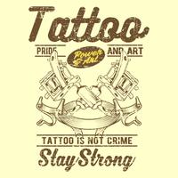 grunge style vintage tattoo is not crime hand drawing vector