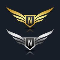 Logotipo da letra N emblema