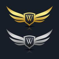Logo dell'emblema della lettera W
