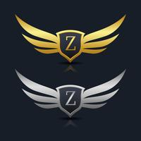 Logo dell'emblema della lettera Z.