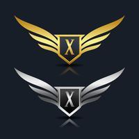 logotipo da letra x emblema