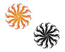 Fire logo hot logo en symbolen sjabloon pictogrammen