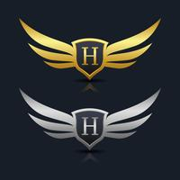 Buchstabe H Emblem Logo