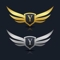 Logo dell'emblema della lettera Y.