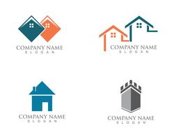 Einfaches Haus Home Real Estate Logo Icons