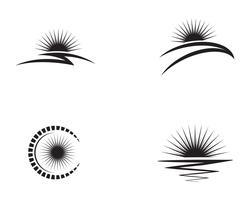 Sun logotyp och symboler stjärna ikon webben