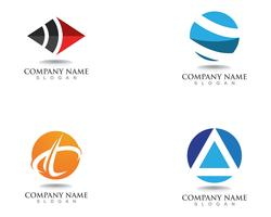 Symboles et logo de finance d'entreprise vector illustration concept