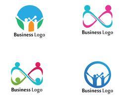 Antagande och samhällsvård Logo mall vektorikon