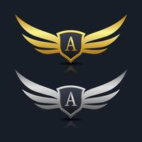 Logo dell'emblema della lettera A