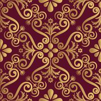 Ornamental luxery pattern design, golden color on black background