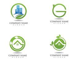Icône de vecteur aller feuille verte écologie nature élément
