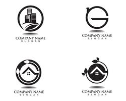 property house and home logos template  vector